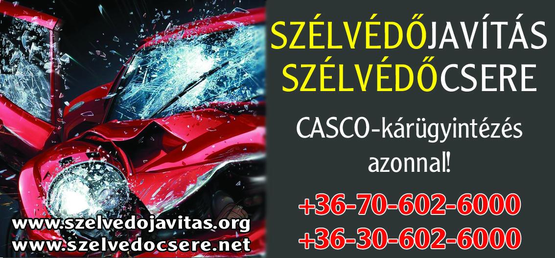 szélvédő csere CASCO